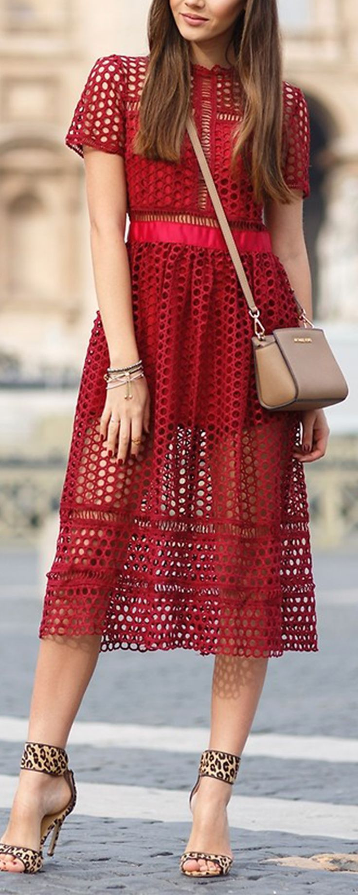 Vintage, chic & gorgeous hollow dress for women. Love the red dress. Lovely and pretty!