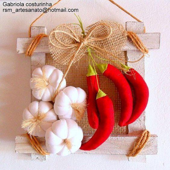 Opções de Artesanatos com Feltro para Cozinha