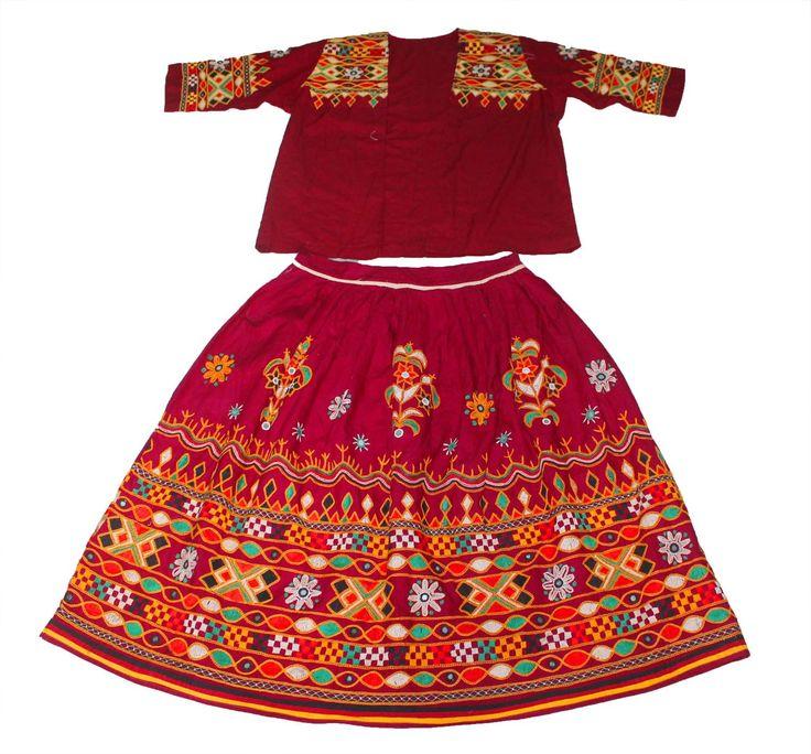 Vintage kutch rabari banjara garba dance indian traditional hand embroidery lehnga Open Jacket by Vintageethnicindian on Etsy