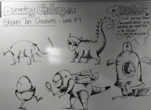 Shaun Tan inspired Drawing Challenges. Year 1 - 7