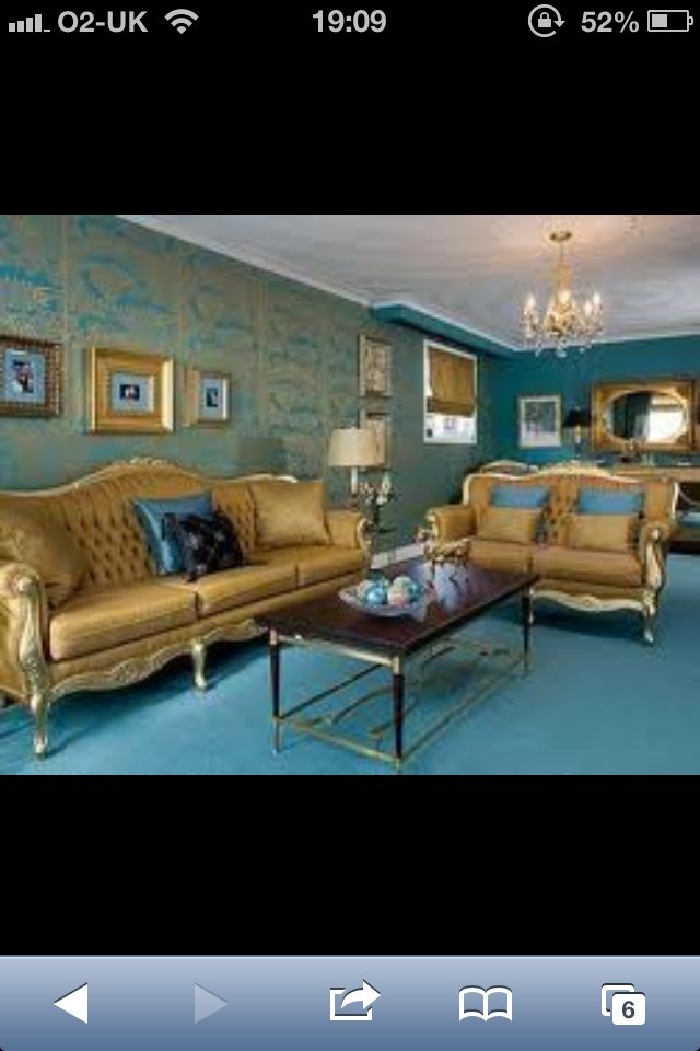 15 best teal and gold images on pinterest bedroom suites - Gold rugs for living room ...