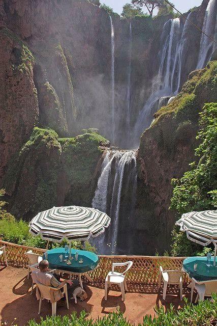 Cafe at Cascades d' Ouzoud in Tanaghmeilt, Morocco #DailyLifeBuff