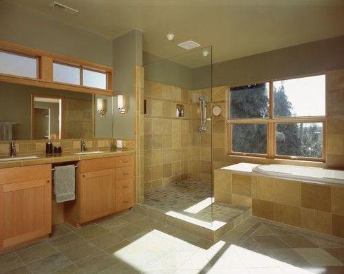 Vanity Light Extension : tub extension into doorless shower Bathrooms Pinterest Walk in shower designs ...