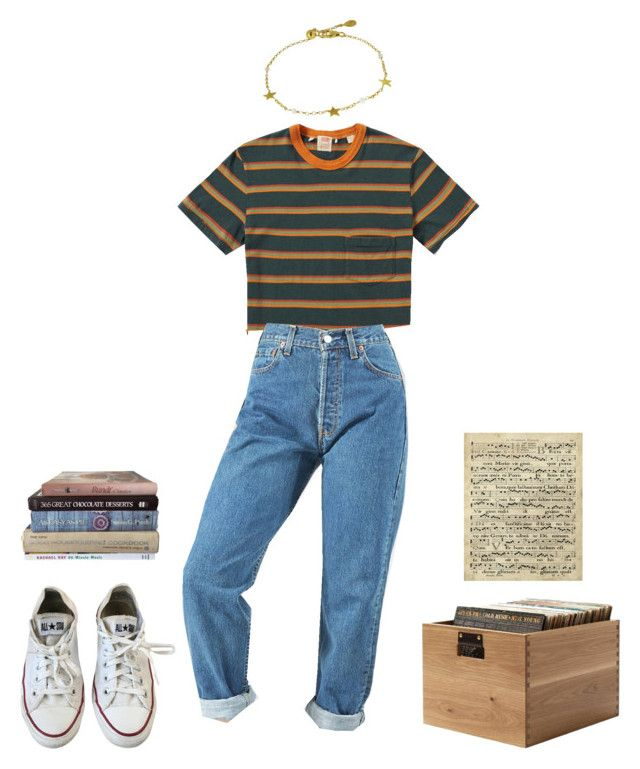 my mind's such a sweet thing by awmolly on Polyvore featuring polyvore, fashion, style, Levi's, Converse, Art Classics and clothing