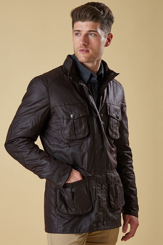 Barbour Corbridge Mens Wax Jacket in Rustic Brown MWX0340RU91 from Smyths Country Sports