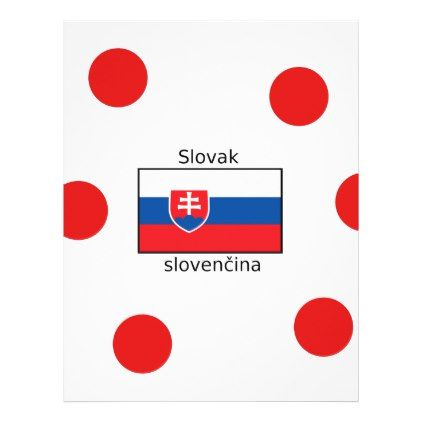 #Slovak Language And Slovakia Flag Design Letterhead - #office #gifts #giftideas #business