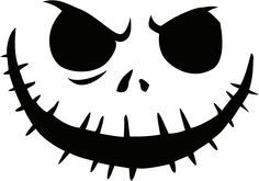 Jack Nightmare Before Christmas Pumpkin Template | jack_skellington Pumpkin Face Free Pumpkin Carving Template