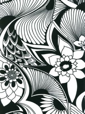 Influenced by English Art Nouveau illustrator and author Aubrey Beardsley who was, himself, influenced by the style of Japanese woodcuts.... florence Peacock Feathers print Aubrey.jpg
