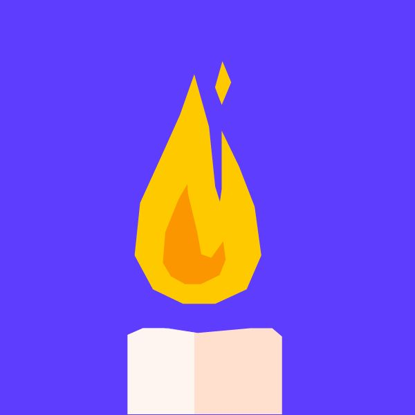 The color of a candle flame is mostly determined by its temperature, which is on the order of 1,000 degrees Kelvin. Planck's law of black-body radiation states that for an object at a given absolute temperature T in Kelvin, the distribution of spectral radiance over wavelength is... See more at Expii.