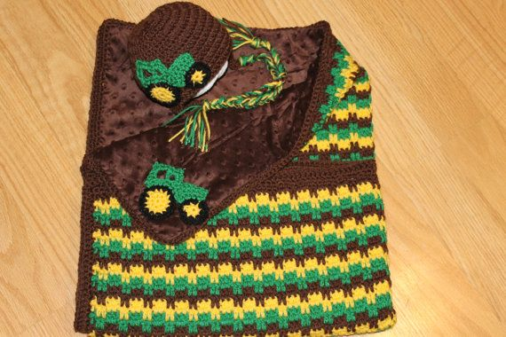Crochet Pattern For John Deere Afghan : Crochet baby blankets, John deere and Crochet baby on ...