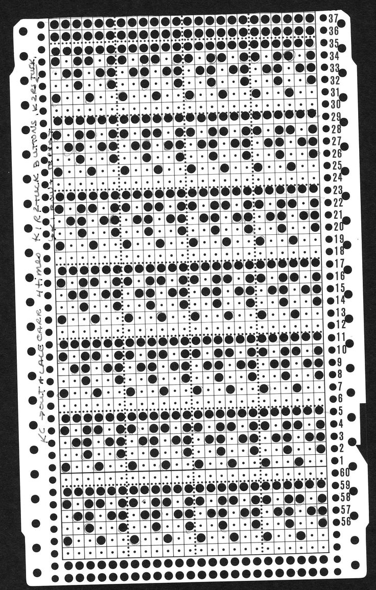 inspiration - knitting machine punchcard