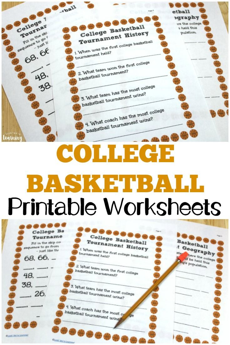 medium resolution of College Basketball Worksheets for Kids - Look! We're Learning!   Worksheets  for kids