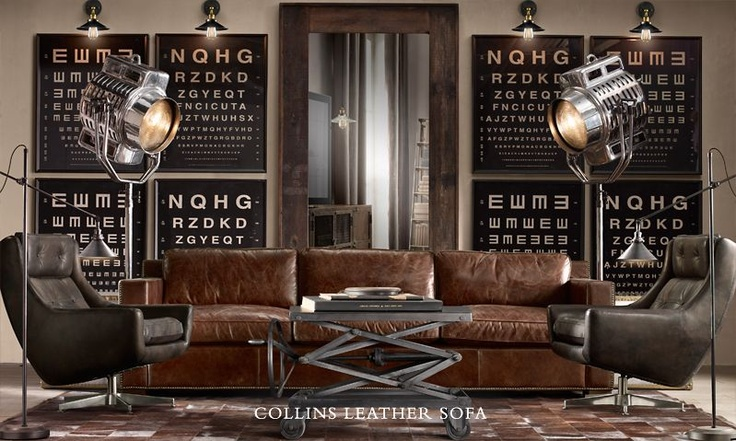 Liking The Colour Palette Brown Leather Couch Grey