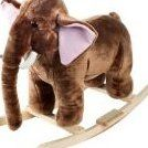 Plush Rocking Mo Mammoth With Sounds - Brown by Happy Trails