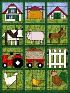 Blokken van de maand 2003 paper pieced quilt blocks farm animals. .. not in english, but easy to understand by graphics