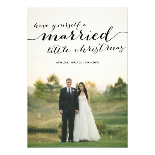 Married Little Christmas Photo Flat Cards- Great idea for a Christmas card for your first married Christmas!