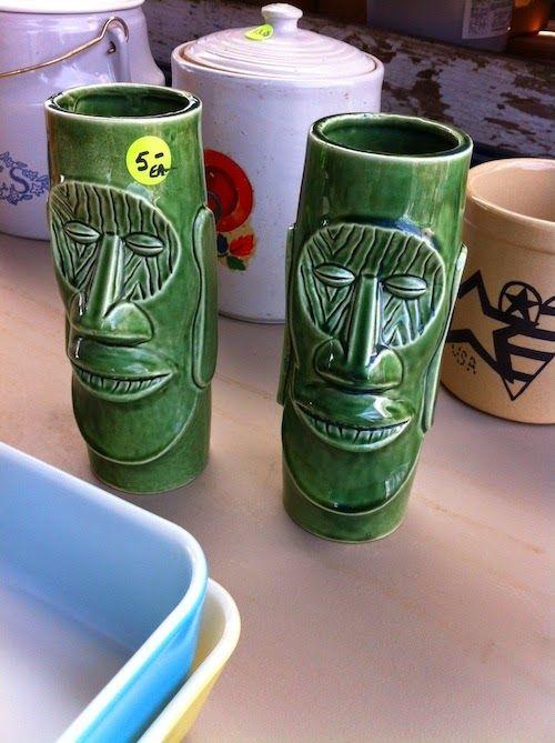 Tiki glasses On the Doorstep: The Flea Market, What Cheer Iowa
