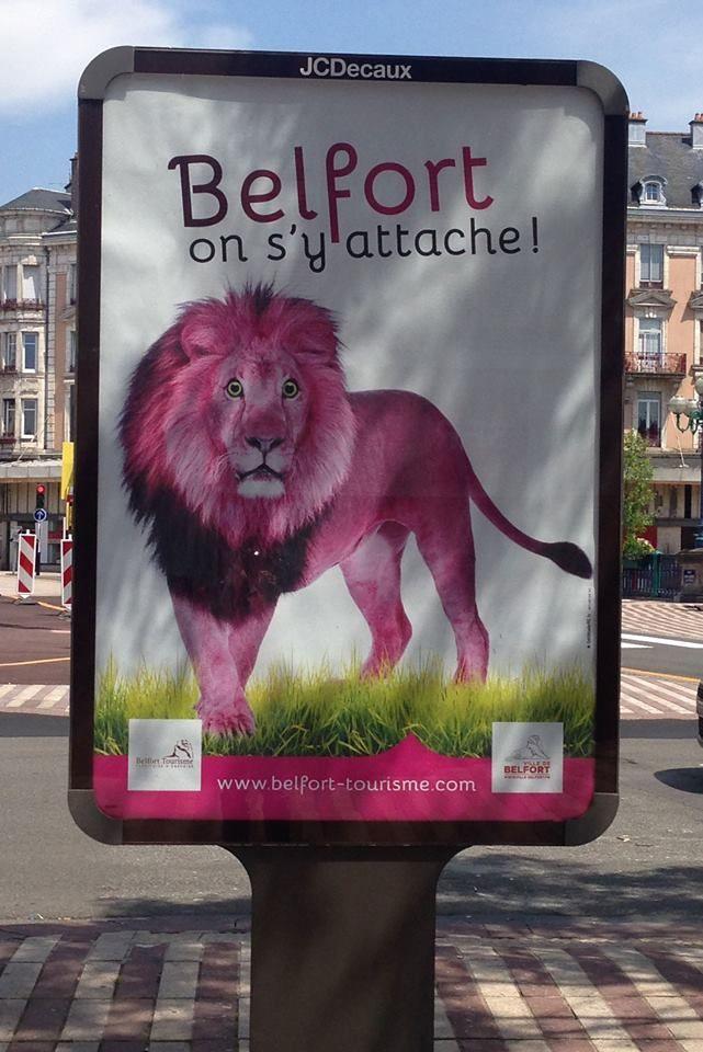 Le lion en balade dans les rues de Belfort. Concept #Lattitude90