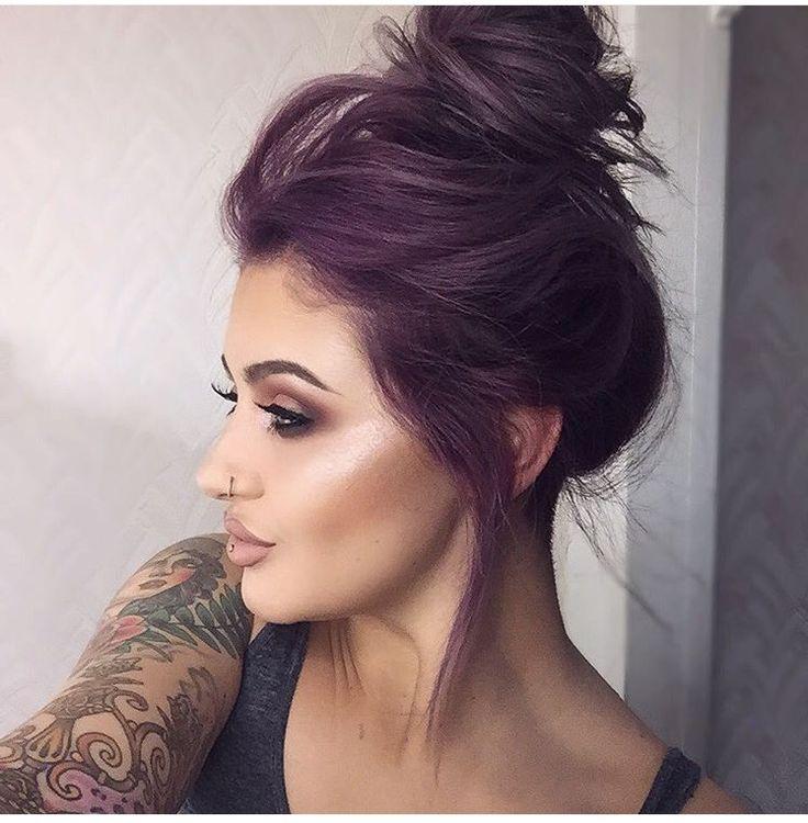 Jamie Genevieve Purple hair