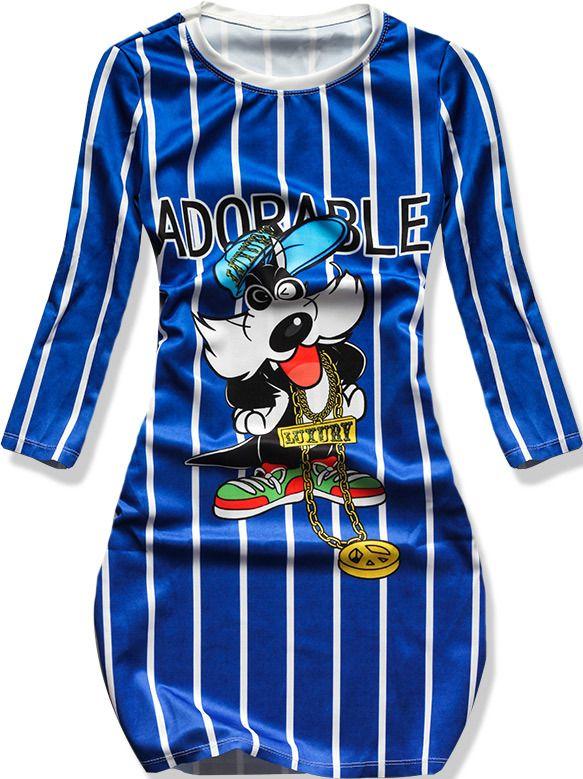 Štýlové šaty SPT02 modré