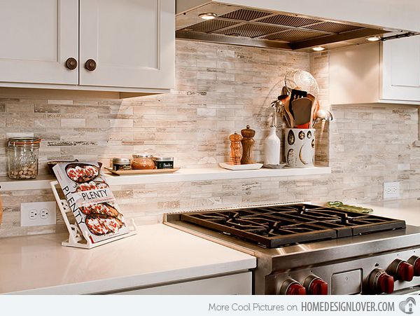17 best images about dosseret on pinterest milky way home design and shelves - Beautiful and refreshing kitchen backsplash for white cabinets ideas ...
