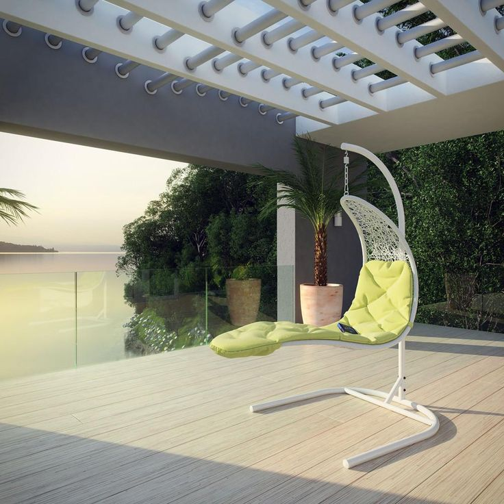 Uncharted horizons give way to natural order with this situated work of perfected alignment. Soar off https://www.barcelona-designs.com/products/enclave-swing-outdoor-patio-lounge-chair?utm_content=buffer4d702&utm_medium=social&utm_source=pinterest.com&utm_campaign=buffer #outdoor #interiordesign #midcentury #homedecor #furniturestore #onlinefurniture