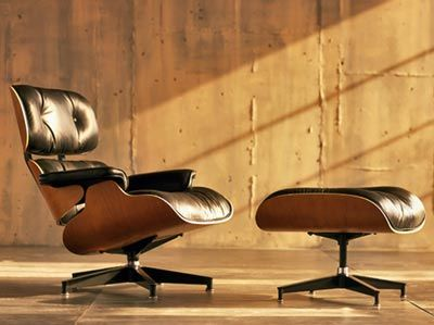 The Charles and Ray Eames Lounge chair, 1956, Vitra