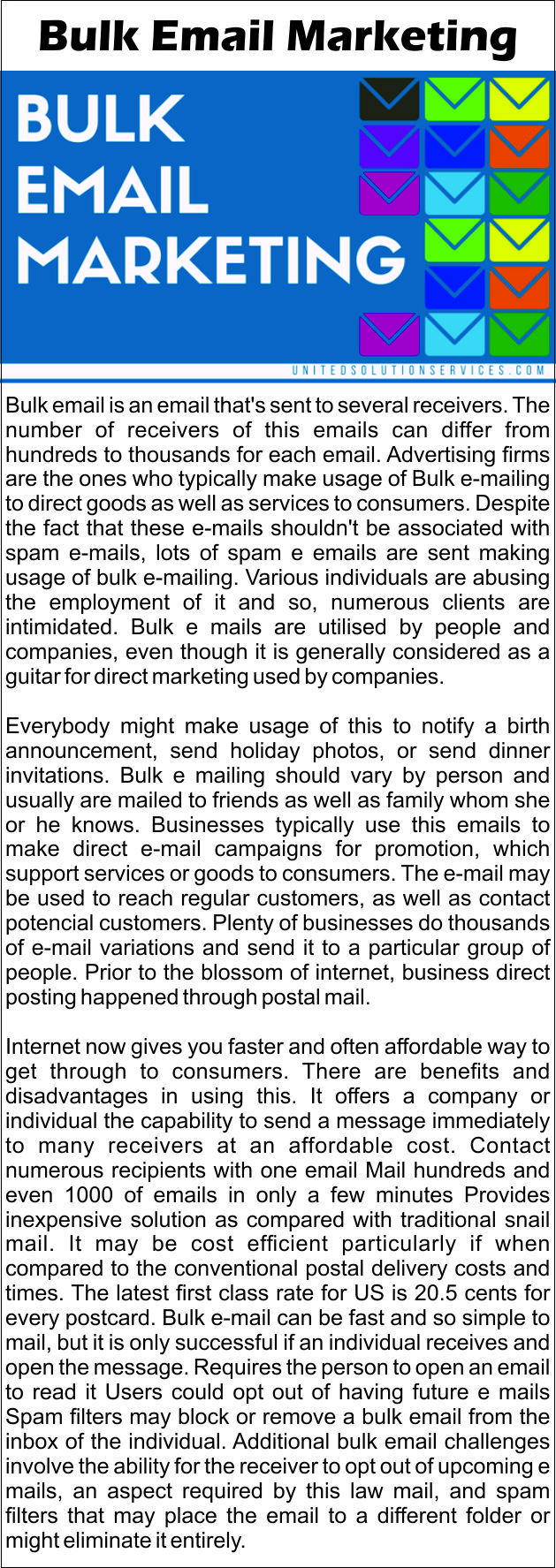 #blog #bulk #email #emailing  #additional #mails #spam #filters  #direct #email #campaigns #emails  #mail #hundreds  #contact #potencial #customers #united #solution #services #USS