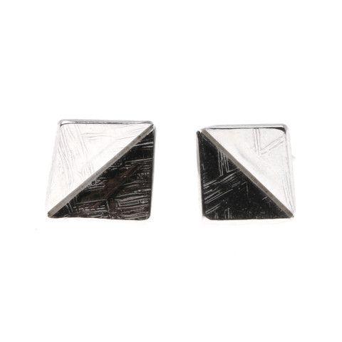 Mette Laier, Firkant-trekant, kvadrat, ørestik, ørering, sølv