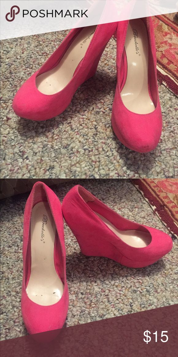Hot pink wedges Normal wear Shoes Wedges