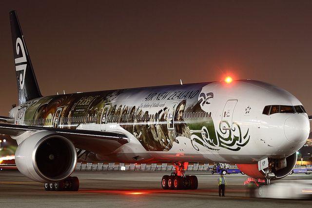 Air New Zealand Hobbit plane (Boeing 777-300 ER) by Brandon Farris Photography