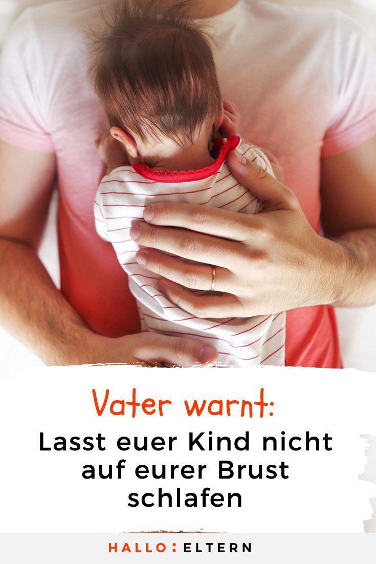 """Ein Papa warnt: """"Lasst eure Kinder nicht auf eurer Brust einschlafen"""""""