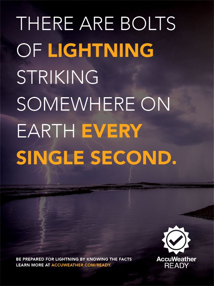 Be prepared for lightning by knowing the facts! Be sure to check out Lightning Facts and stay #AccuWeatherReady before it strikes!