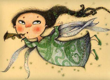 Pinzellades al món: Àngels: il·lustracions de Tatiana Betekhtin -Бетехтина…