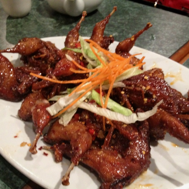 Sweet and spicy quail - by Mabrown restaurant, Melbourne
