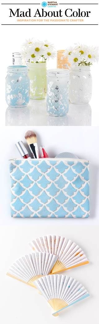 DIY your own crafts with paints from #martha stewartcrafts in our favorite colors for August. #madaboutcolorMartha Stewartcraft, Favorite Colors, Diy Crafts, Creative Crafts, Crafts Tools, Crafty Lady, Mason Jars, Diy Projects, Crafty Ideas