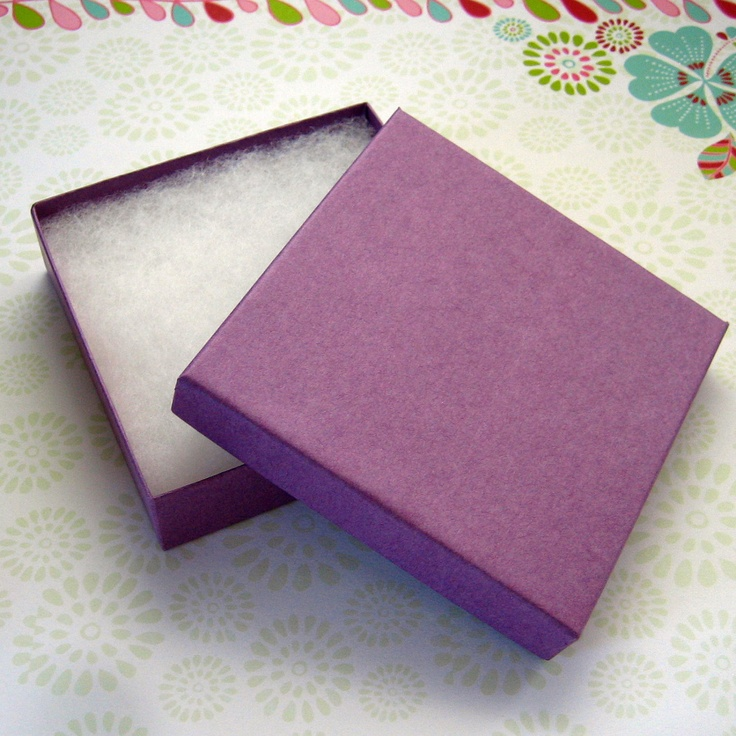 purple cotton filled jewelry boxes 1