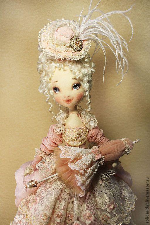 Купить Лаура - нежность, улыбка, любовь, винтаж, коллекционная кукла, татьяна иванова, бледно-розовый