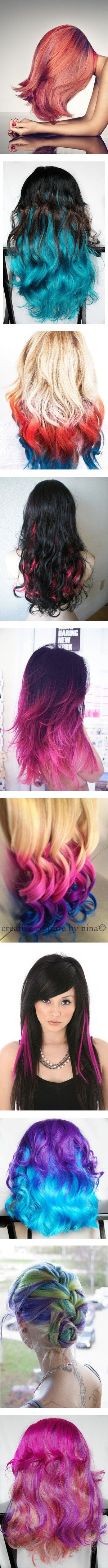 """hair color wild! wats ur favorite style?"" by keren999 ❤ liked on Polyvore"