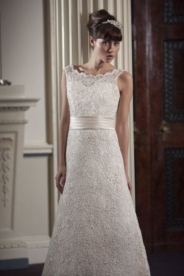18 best wedding dresses images on pinterest wedding dressses nicki flynn amaryllis delicate beaded lace bridal gown with boat neck satin sash and ombrellifo Gallery