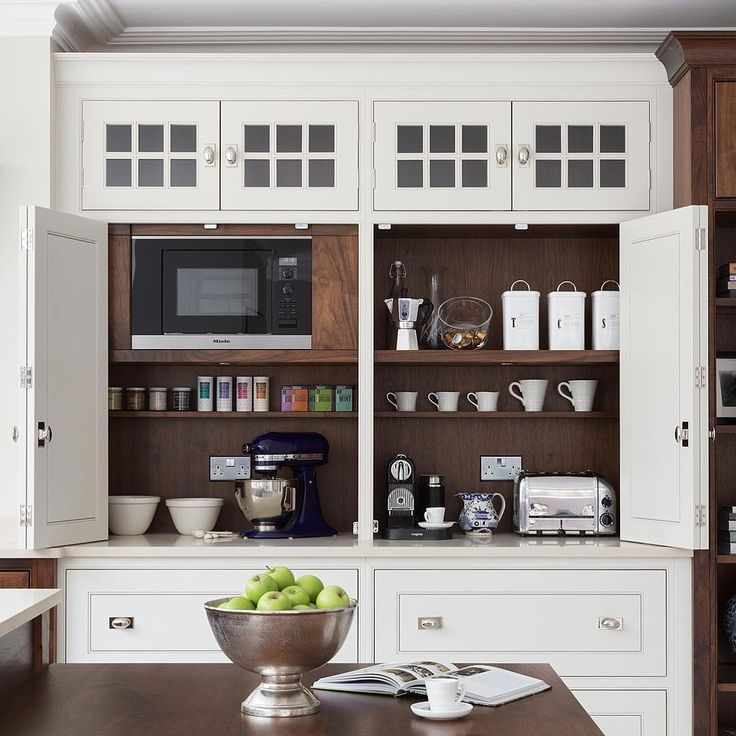This is the interior of the double countertop cupboard in the Wilton House project   Humphrey Munson
