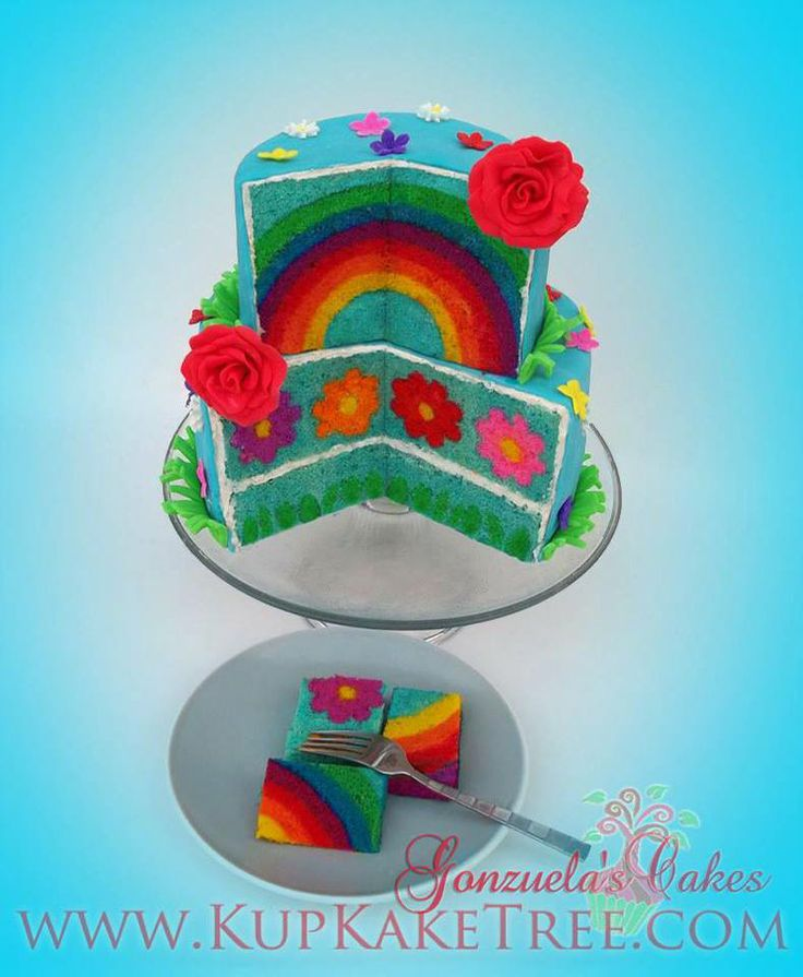 Rainbow cake - For all your cake decorating supplies, please visit craftcompany.co.uk
