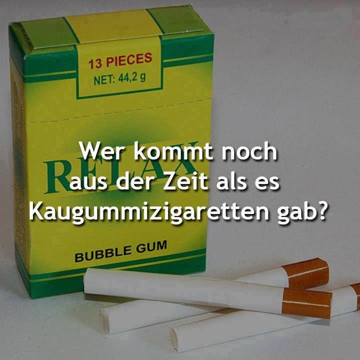 ...und Schokoladenzigaretten