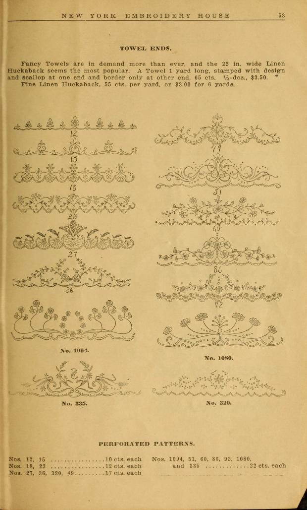 Embroidery hints: Fall and Winter 1910 FOLLOW THIS LINK FOR ALL OF THE DIFFERENT DESIGNS AND IDEAS