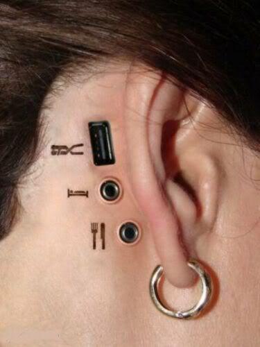 Geek Unusual Piercings Behind Ear