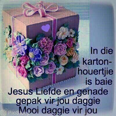 In die kartonhouertjie is baie Jesus Liefde .....