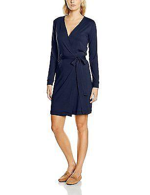 10, Blue - Blau (ink blue 8200), Blaumax Women's Samira Ls Dress NEW