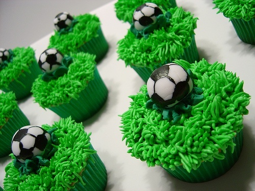 Soccer Cakes by Happy Cakes (Little Cakes for Your Happy!), via Flickr