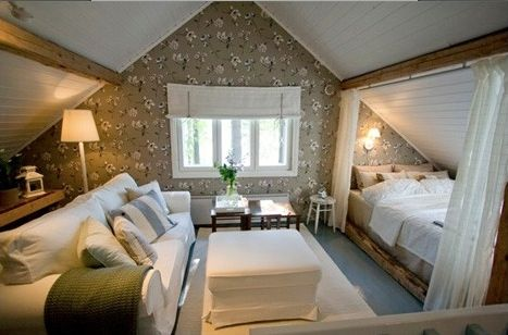 attic guest room... Inspiration for making the basement more cozy
