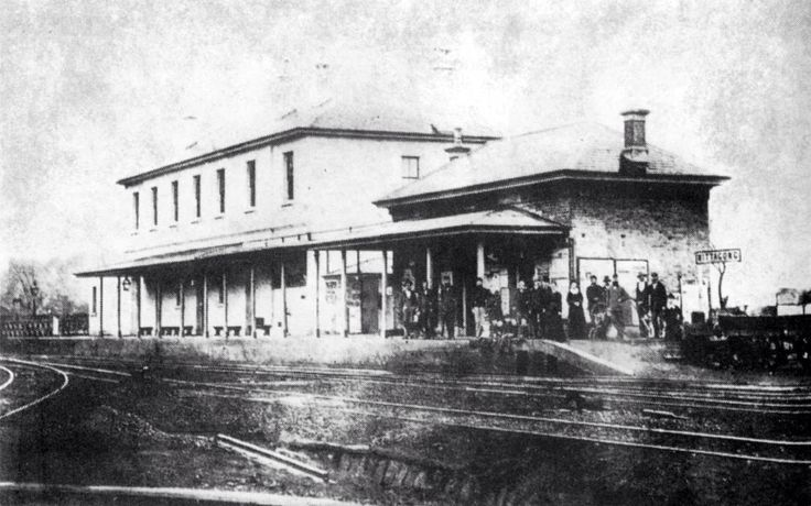 Mittagong Railway station, opened 1867.